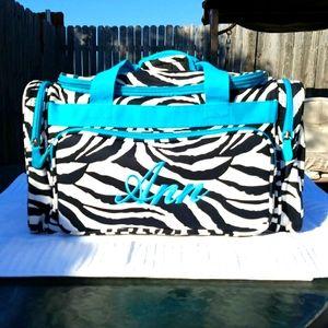 Handbags - Ann Personalized Duffle Sac in Zebra Print